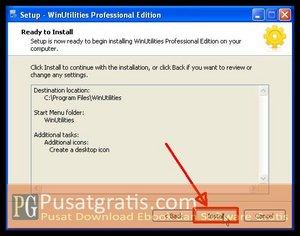 Klik Install untuk menginstall WinUtilities Professional Edition 9.97