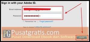 Login ke akun Photoshop.com