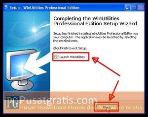 klik Finish untuk menginstall WinUtilities Professional Edition 9.97