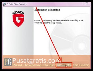 Proses Instalasi G Data Cloud Security telah selesai