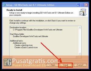 Klik Install untuk menginstall wintools.net ultimate edition full version