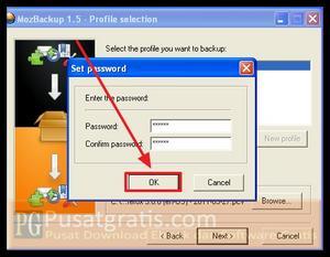 Masukkan Password dan klik OK