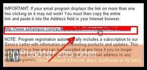 Klik Link yang ada di Email untuk memperoleh lisensi Ashampoo Slideshow Studio Elements