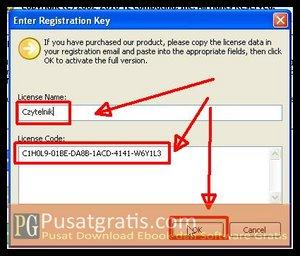 Isikan detail lisensi dan klik OK untuk menginstall WinUtilities Professional Edition 9.97