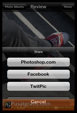Share Foto dengan Adobe Photoshop Express 2