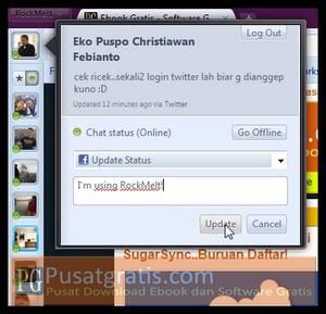 Update status twitter dan facebook bisa langsung dari sidebar