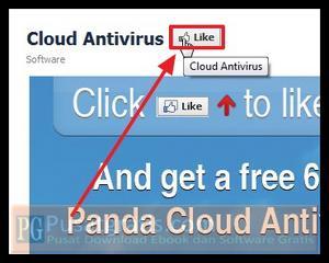 Klik Like untuk mendapatkan Lisensi Panda Cloud Antivirus Pro selama 6 Bulan
