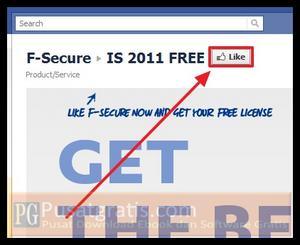 Klik tombol like untuk mendapatkan 8000 Lisensi Original F-Secure Internet Security 2011