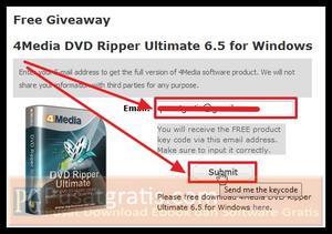 Masukkan email anda di form yang disediakan dan klik submit