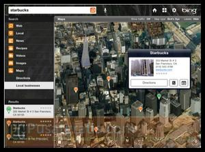 Fitur Local Map pada Aplikasi Bing for iPad