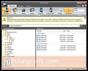 Mengeksplor iPhone, iPad dan iPod Anda seperti External Disk dengan iPhone Explorer.
