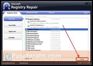 Memperbaiki Registry yang Error dengan Free Registry Repair