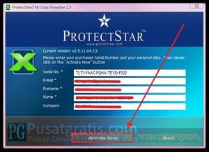 masukkan lisensi Data Shredder 2.5 Pro!