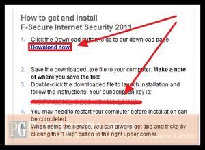 Anda telah mendapatkan Lisensi Original F-Secure Internet Security 2011