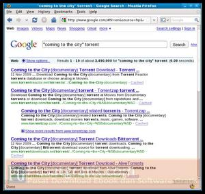 Pilih salah satu file torrent yang anda temukan
