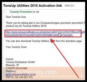 Klik link konfirmasi untuk mendapatkan TuneUp Utilities 2010 Full Version Gratis!