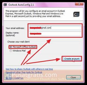"""Masukkan alamat email anda dan klik """"Create   Account"""""""
