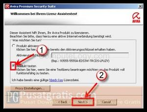 Click Next to get Avira Premium Security 10 license