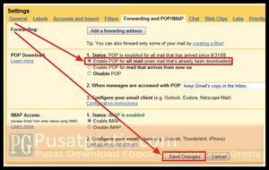 Aktifkan POP Mail di Gmail Anda