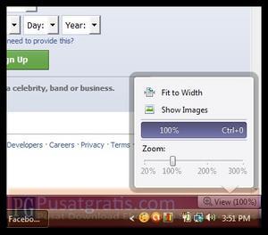 Fitur Zoom Pada Opera 11.10