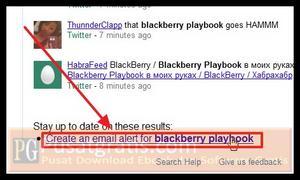"""scroll kebawah halaman tersebut dan klik """"Create an email alert for..."""""""