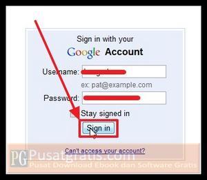 Login ke akun gmail anda