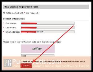 Isi Form dan Klik Submit
