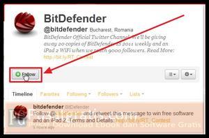 Follow Twitter untuk mendapatkan 20 Lisensi Original BitDefender Internet Security
