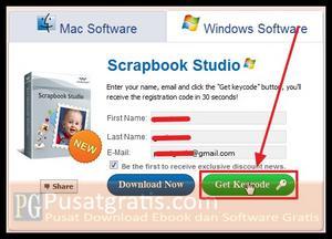 "Klik Tab Windows Software dan masukkan data-data anda kemudian klik ""Get Keycode"""
