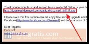 Download Daniusoft DVD to MP4 installer
