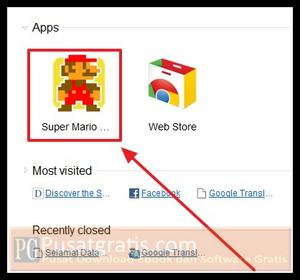 Klik icon tersebut dan selamat memainkan game klasik Super Mario Bros Crossover