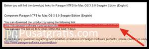 link download Paragon NTFS for Mac OS X 9.0 for Seagate GoFlex