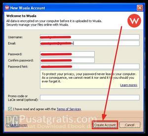 Masukkan data-data anda dan klik Create account