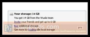 Total storage anda 14 GB dan Pro features anda juga telah aktif