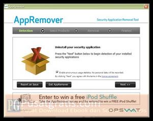 Menguninstall Security Software dengan AppRemover