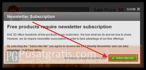 """Klik """"Subscribe me"""""""