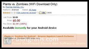 """Dapatkan Game Android """"Plant vs Zombies"""" Secara Gratis"""