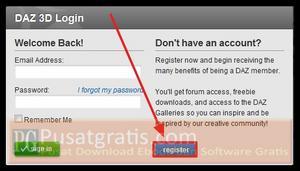 "Klik ""Register"""