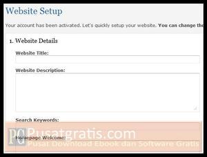 Anda bisa langsung melakukan setting website anda dengan sangat mudah