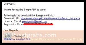 Lisensi Simpo PDF to Word Converter untuk Windows