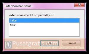 Pada boolean value, pilih False kemudian klik tombol OK
