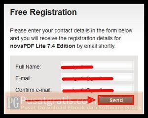 """Isi form yang kosong dengan data-data anda kemudian klik tombol """"Send"""""""