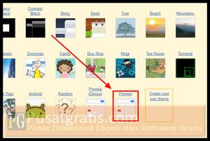 Pilih tampilan themes Gmail yang anda inginkan. Anda juga bisa membuat tampilan themes Gmail anda sendiri