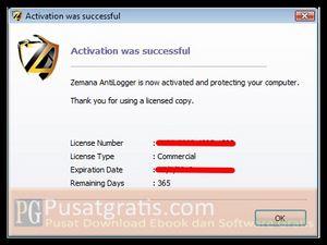 Download Zemana Antilogger kemudian install dan aktifkan dengan lisensi yang sudah anda terima