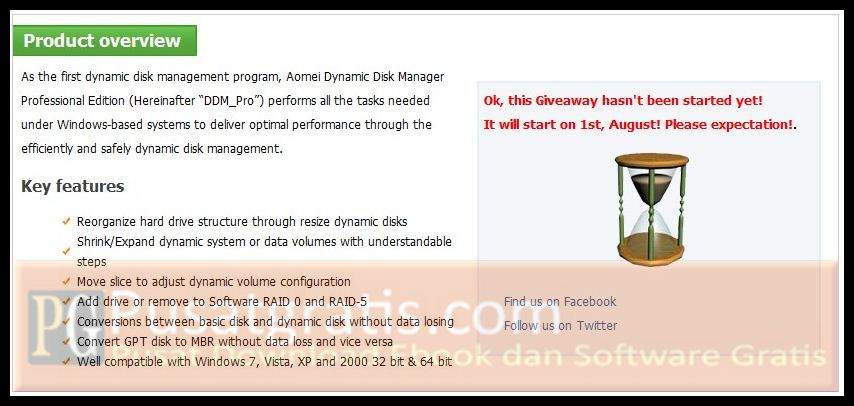 Cara Mendapatkan Aomei Dynamic Disk Manager Professional Edition