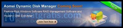 Bergabunglah Menjadi Beta Tester dari Dynamic Disk Manager