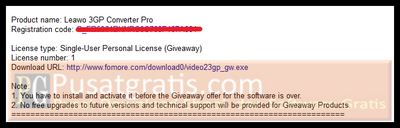 download link dan lisensi full version dari 3GP Converter Pro