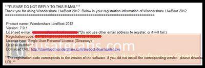 Log in ke email anda dan buka email dari Wondershare Mailer