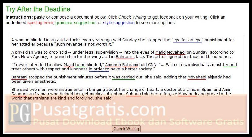 After the Deadline: Tools Gratis Untuk Meningkatkan Kualitas Tulisan Bahasa Inggris Anda!