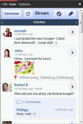 Mengakses Google+ Dengan GClient - Desktop Client Google+ Pertama